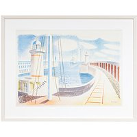 Eric Ravilious - Newhaven Harbour Framed Print, 52 x 66cm