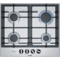 Bosch PCP6A5B90 60cm Gas Hob, Brushed Steel