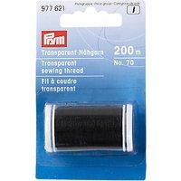 Prym Transparent Thread, 200m, Black