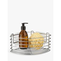 BlissHome Stick em Up Corner Basket, Silver