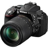 Nikon D5300 Digital SLR Camera with 18-105mm VR Zoom Lens, HD 1080p, 24.2MP, Wi-Fi, 3.2 Screen