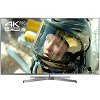 Panasonic 50EX750B LED HDR 4K Ultra HD 3D Smart TV, 50 with Freeview Play/Freesat HD & Height Adjustable Swivel Stand, Silver, Ultra HD Certified