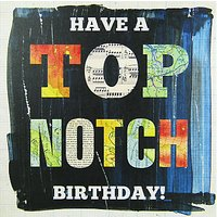 Portico Top Notch Birthday Card