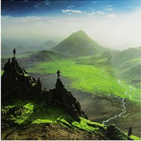 Woodmansterne Two Friends Mountains Birthday Card