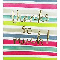 The Proper Mail Company Bright Stripes Thank You Card