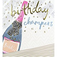 The Proper Mail Company Champagne Bottle Birthday Card
