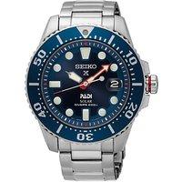 Seiko SNE435P1 Men's Prospex Padi Date Bracelet Strap Watch, Silver/Blue