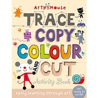 Arty Mouse Trace Copy Cut Childrens Activity Book