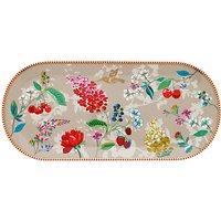 PiP Studio Floral 2.0 Hummingbird Cake Tray, Khaki/Multi, 33.5 cm