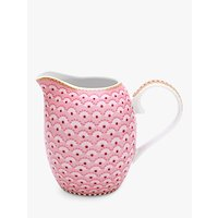 PiP Studio Floral 2.0 Small Cream Jug, Pink, 250ml