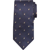 Paul Smith Embroidered Rabbit Motif Silk Tie