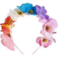 John Lewis Childrens Summer Flower Crown Headband, Multi