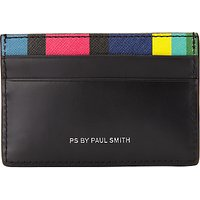 Paul Smith Rainbow Stripe Card Holder, Black