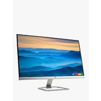 HP 27er LCD Full-HD IPS LED Backlight Monitor, 27, Natural Silver/Blizzard White