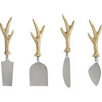 John Lewis Highland Myths Cheese Knives, Set of 4, Gold
