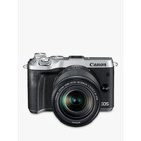 Canon EOS M6 Compact System Camera with EF-M 18-150mm IS STM Lens, HD 1080p, 24.2MP, Wi-Fi, Bluetooth, NFC, 3.0 LCD Tiltable Touch Screen, Silver