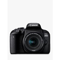 Canon EOS 800D Digital SLR Camera with EF-S 18-55mm IS STM Lens, HD 1080p, 24.2MP, Wi-Fi, Bluetooth, NFC, Optical Viewfinder, 3 Vari-Angle Touch Screen