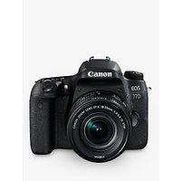 Canon EOS 77D Digital SLR Camera with EF-S 18-55mm IS STM Lens, HD 1080p, 24.2MP, Wi-Fi, Bluetooth, NFC, Optical Viewfinder, 3 Vari-Angle Touch Screen