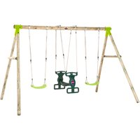 Plum Vervet Wood Swing Set