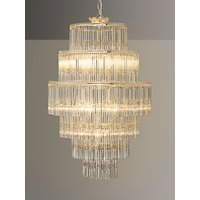 John Lewis and Partners Athenea Chandelier Ceiling Light, Smoke/Clear