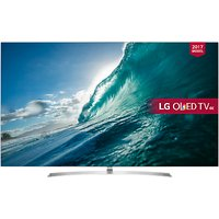 LG OLED55B7V OLED HDR 4K Ultra HD Smart TV, 55 with Freeview Play, Dolby Atmos, Picture-On-Metal Design & Crescent Stand, Silver
