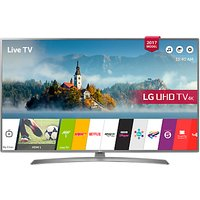 LG 55UJ670V LED HDR 4K Ultra HD Smart TV, 55 with Freeview Play & Crescent Stand, Grey