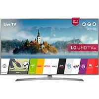 LG 49UJ670V LED HDR 4K Ultra HD Smart TV, 49 with Freeview Play & Crescent Stand, Grey