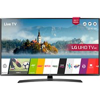 LG 55UJ635V LED HDR 4K Ultra HD Smart TV, 55 with Freeview Play & Crescent Stand, Black