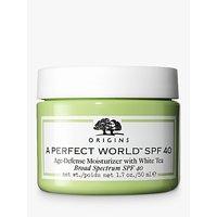 "Origins A Perfect Worldâ"" Age-Defence Moisturiser SPF 40 with White Tea, 50ml"