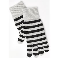 John Lewis Striped Cashmere Gloves
