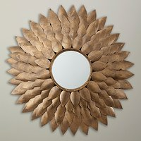 John Lewis Fusion Leaves Wall Mirror, Gold