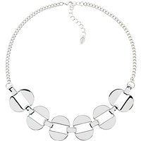 Monet Polished Oval Links Necklace, Silver