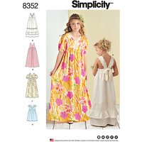 Simplicity Childrens Dresses Sewing Pattern, 8352