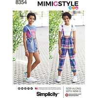 Simplicity Childrens Top and Overalls Sewing Pattern, 8354