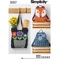 Simplicity Rag Quilted Bag Sewing Pattern, 8357