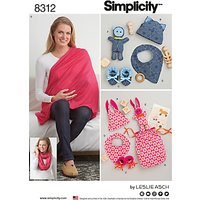 Simplicity Costumes Baby Accessories Paper Patterns, 8312