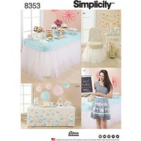 Simplicity Pattern Party Dcor and Accessories, 8353