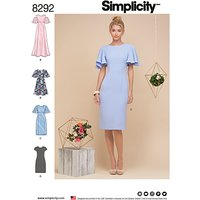 Simplicity Womens Dress Sewing Pattern, 8292