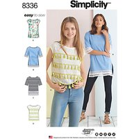 Simplicity Womens Top Sewing Pattern, 8336, A