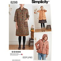 Simplicity Women's Coat and Jacket Sewing Pattern, 8298