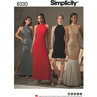 Simplicity Women's Special Occasion Dresses Sewing Pattern, 8330
