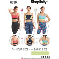 Simplicity Women's Sports Bra Sewing Pattern, 8339