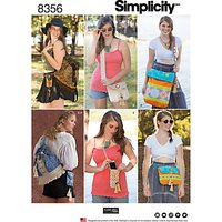 Simplicity Festival Bag Sewing Pattern, 8356