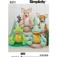 Simplicity Costumes Stuffed Animals Paper Patterns, 8311