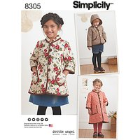 Simplicity Children's Coat and Jacket Sewing Pattern, 8305