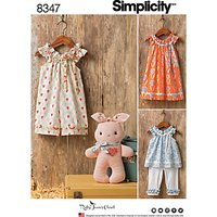 Simplicity Children Clothes and Stuffed Bunny Sewing Pattern, 8347