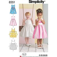 Simplicity Children's Dresses Sewing Pattern, 8351, A