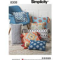 Simplicity Home Pillows Sewing Pattern, 8308, One Size