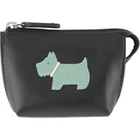 Radley Heritage Dog Small Leather Coin Purse, Black