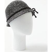 John Lewis Mohair Blend Bow Cloche Hat